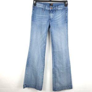 Vigoss Jean Light Wash Flare Wide Leg Low Rise